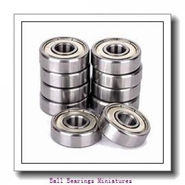 4mm x 13mm x 5mm  ZEN sf624-2z-zen Ball Bearings Miniatures