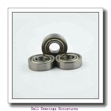 4mm x 16mm x 5mm  ZEN f634-2z-zen Ball Bearings Miniatures
