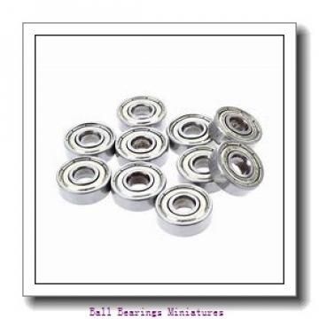 4mm x 13mm x 5mm  ZEN 624-2rs-zen Ball Bearings Miniatures